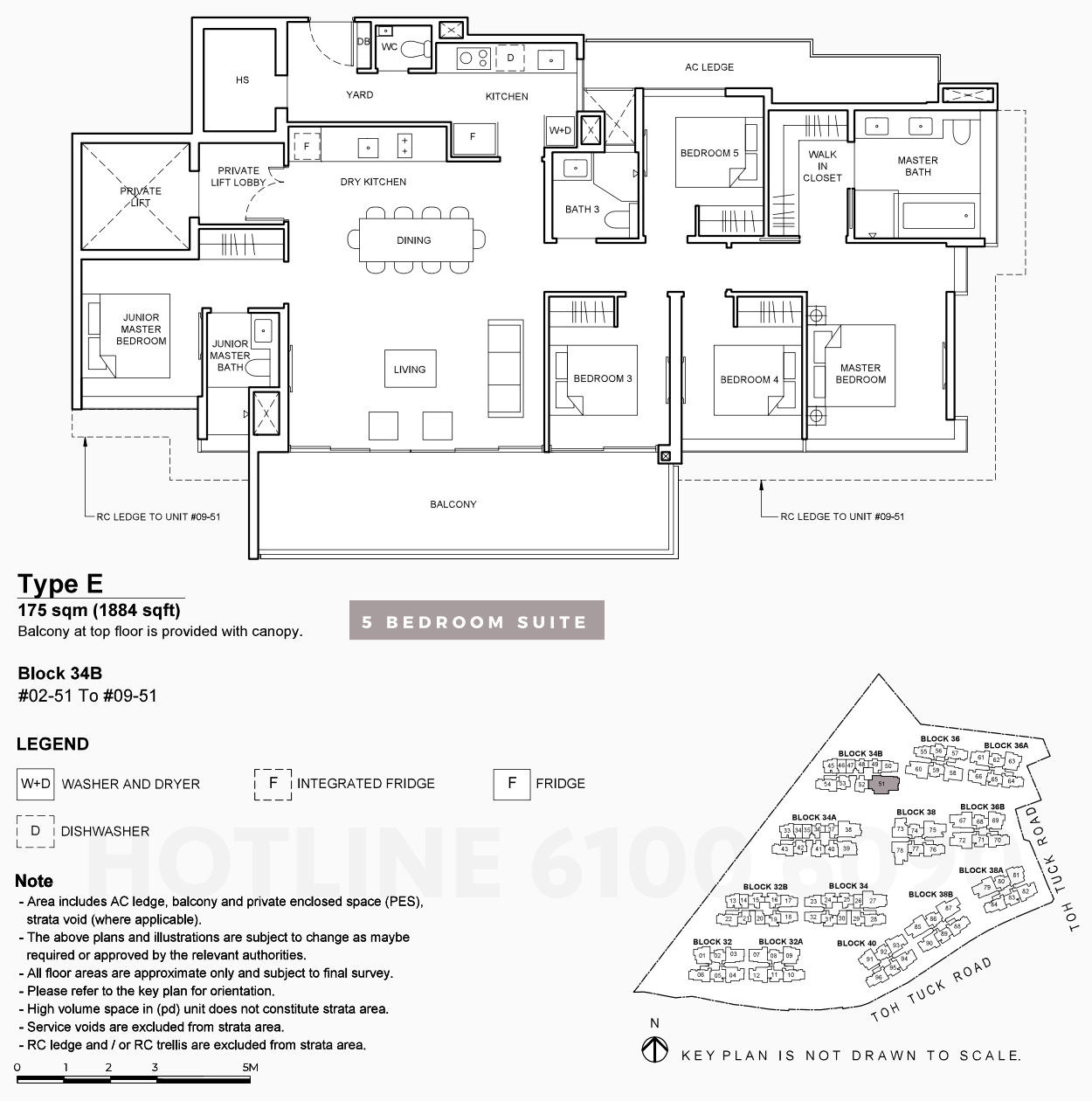 Forett Floor Plans . 5 Bedroom Suite Type E