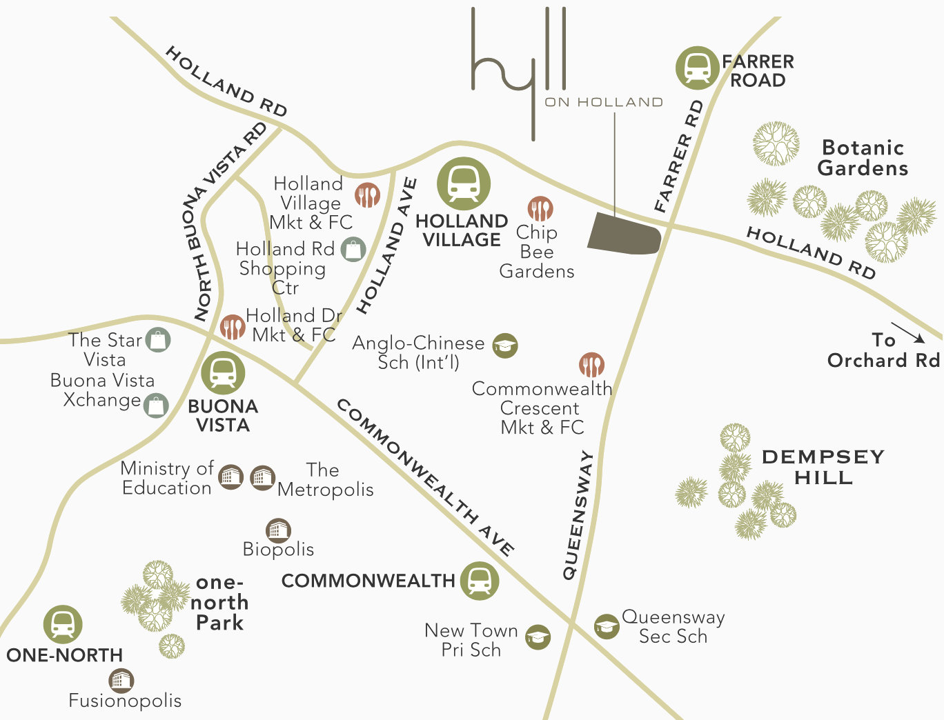 Hyll on Holland Location Amenities