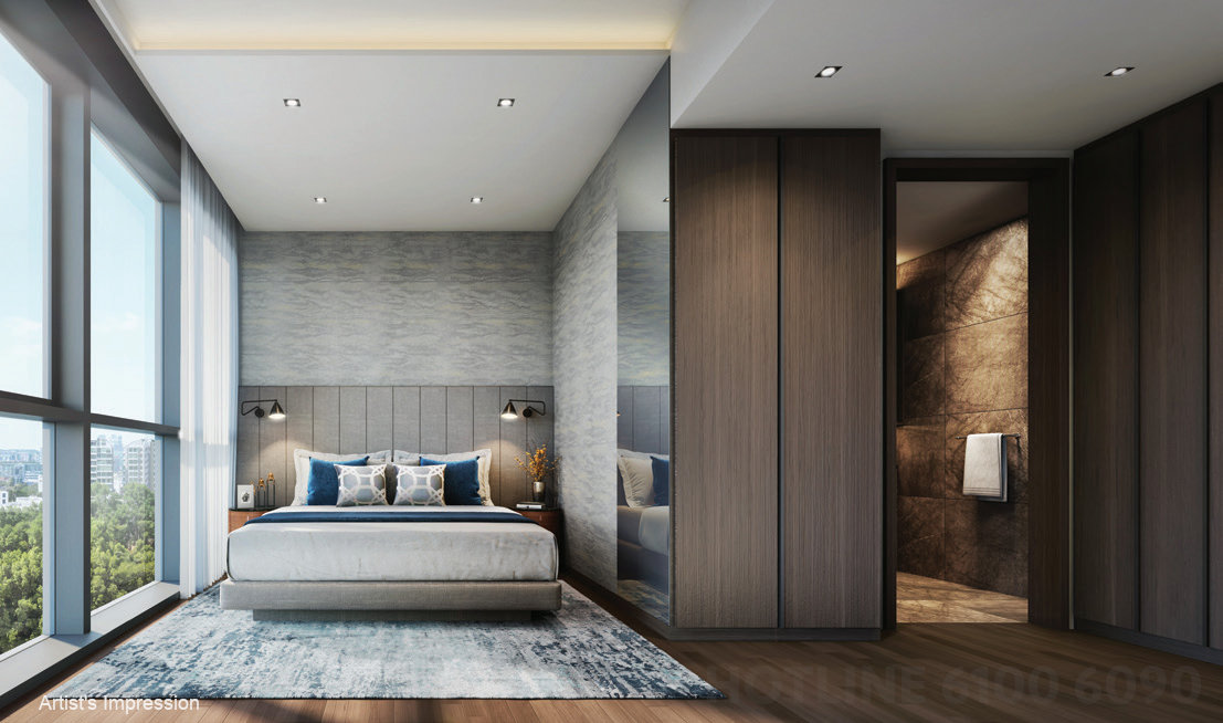 Hyll on Holland Showflat Bedroom