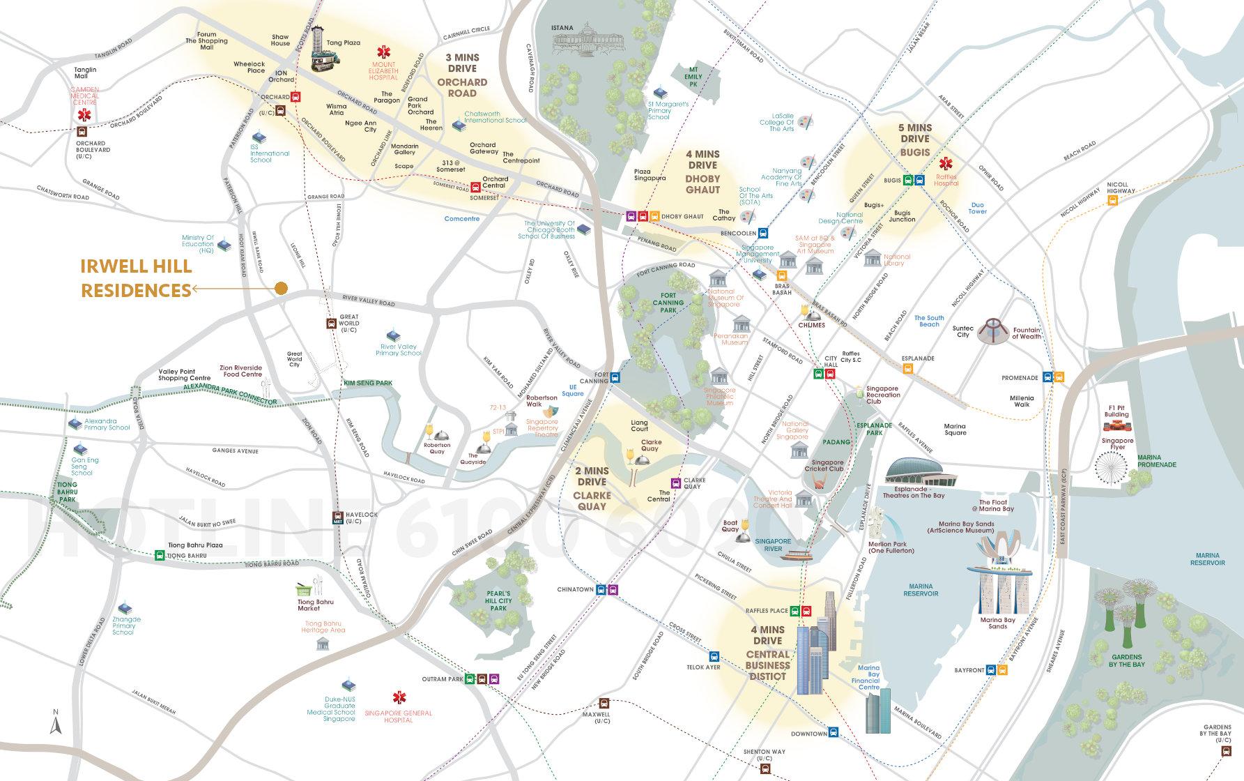 Irwell Hill Location Map . Amenities