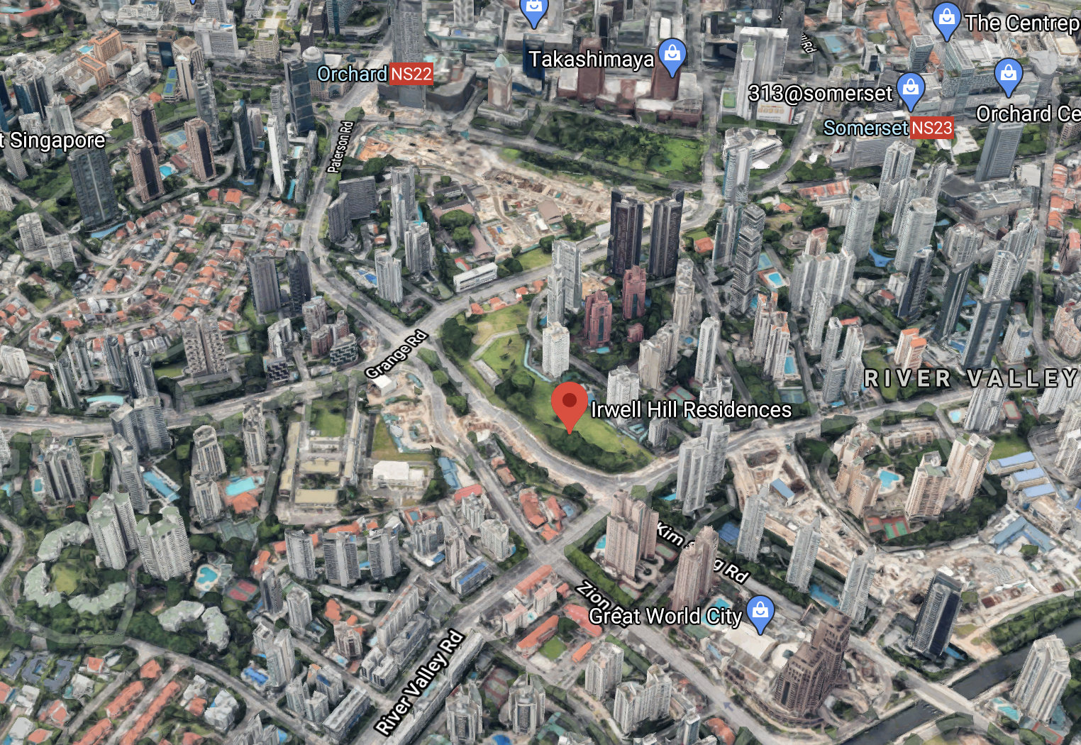 Irwell Hill Residences Location . Between River Valley and Orchard Road