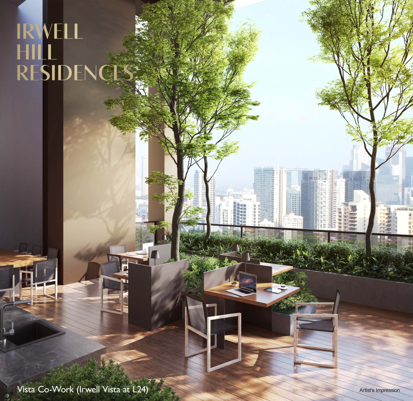 Irwell Hills Condominium . Sky Terrace Co-Work Area