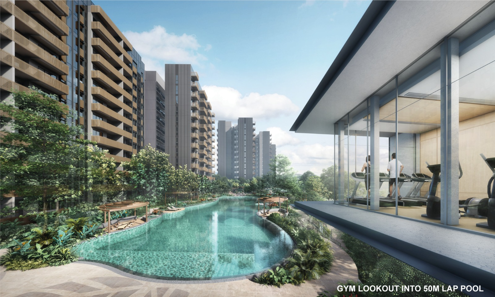 Ki Condominium at Brookvale . Gym Overlooking 50M Lap Pool
