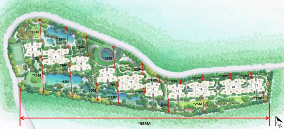 Ki Residences Site Plan . Block Distances