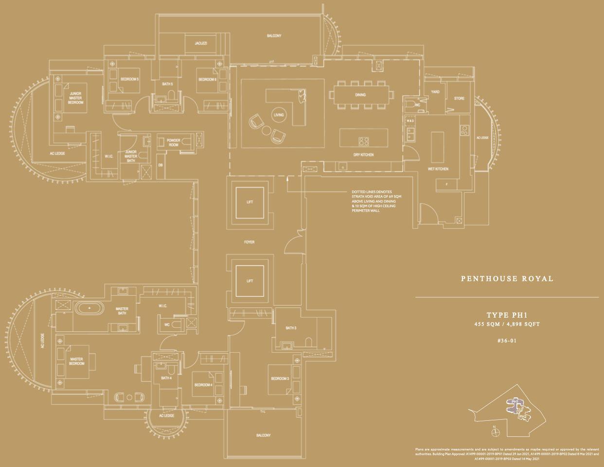 Klimt Cairnhill Floor Plan . Penthouse Royal