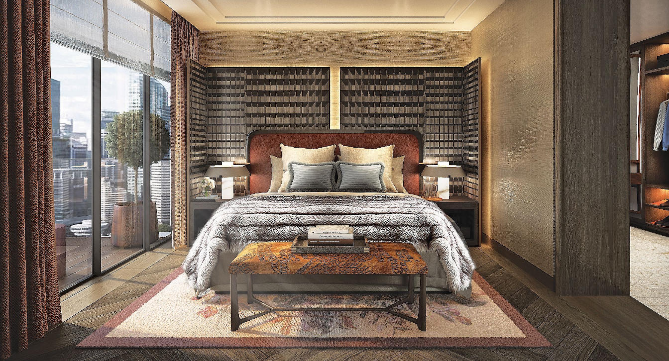 Klimt Cairnhill Showflat . Penthouse Master Bedroom