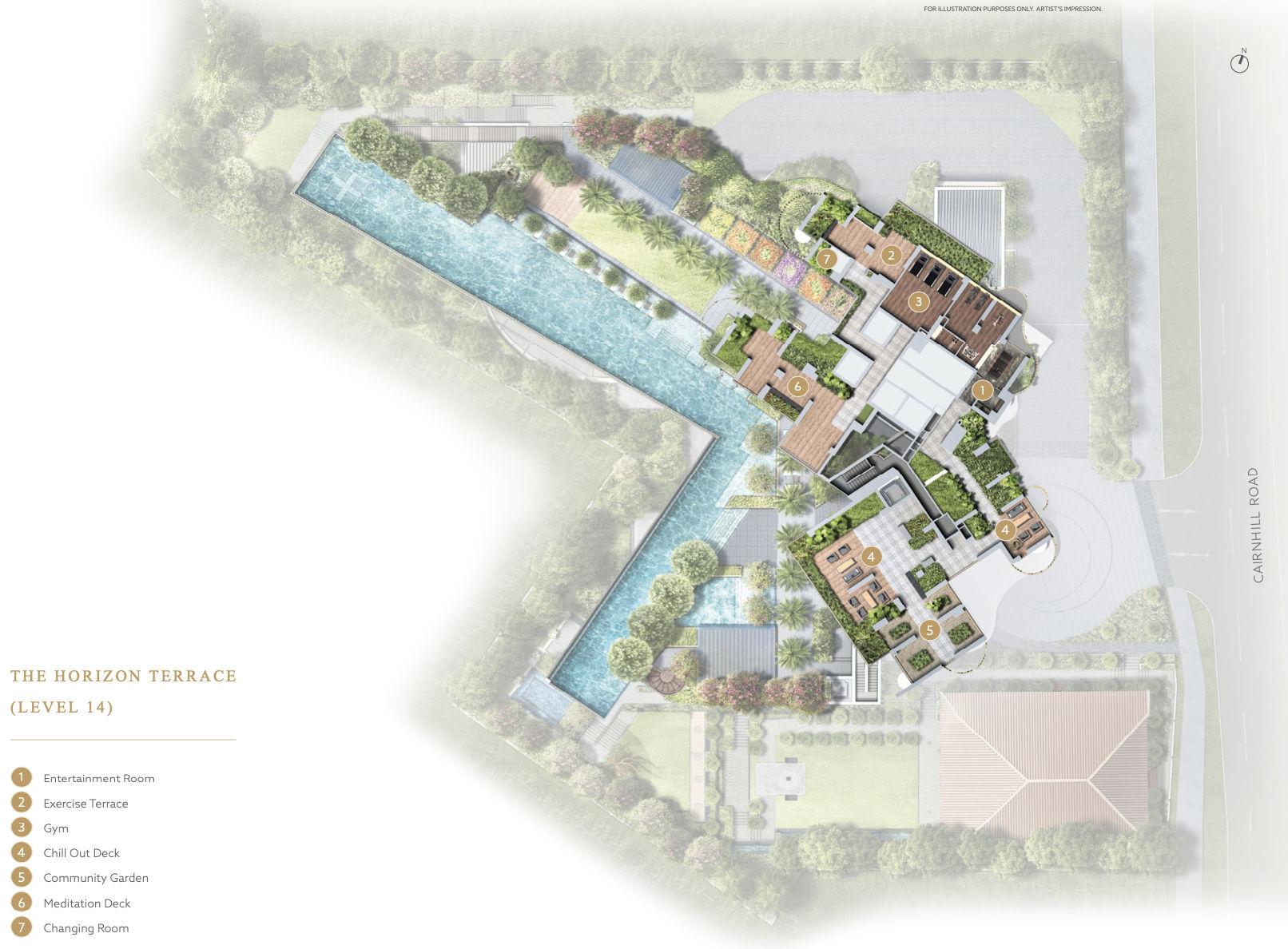 Klimt Cairnhill Site Layout . Level 14 The Horizon Terrace