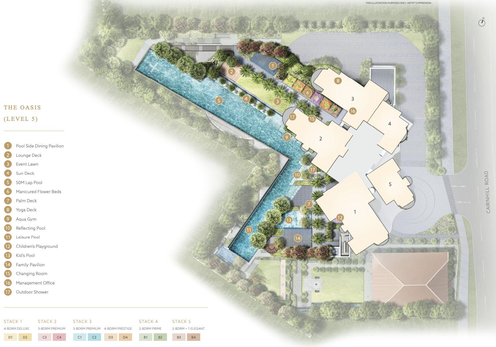 Klimt Cairnhill Site Plan Layout . Level 5
