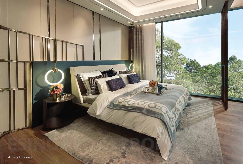 Artist's Impression . Showflat Bedroom