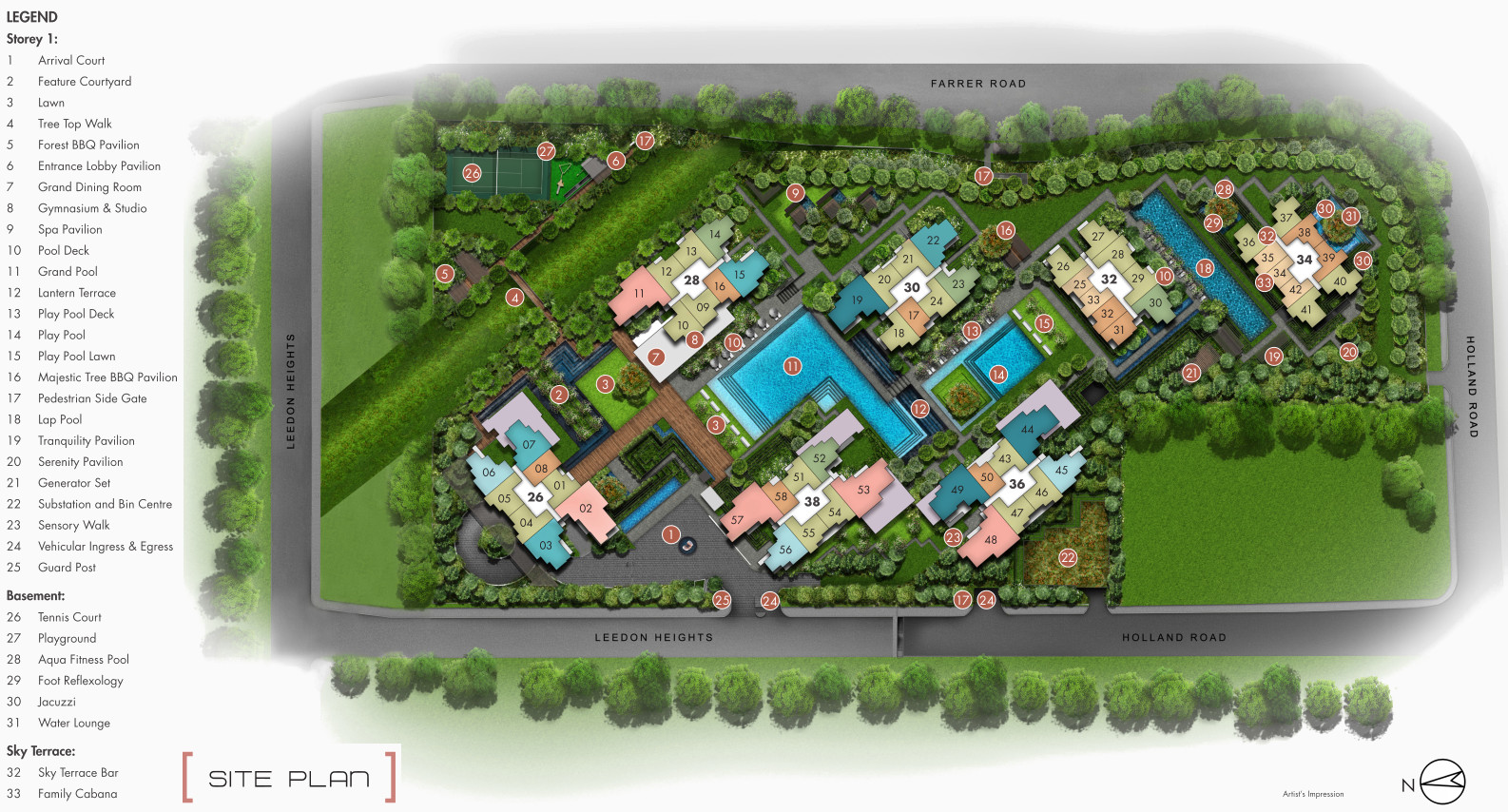 Leedon Green Site Plan Layout