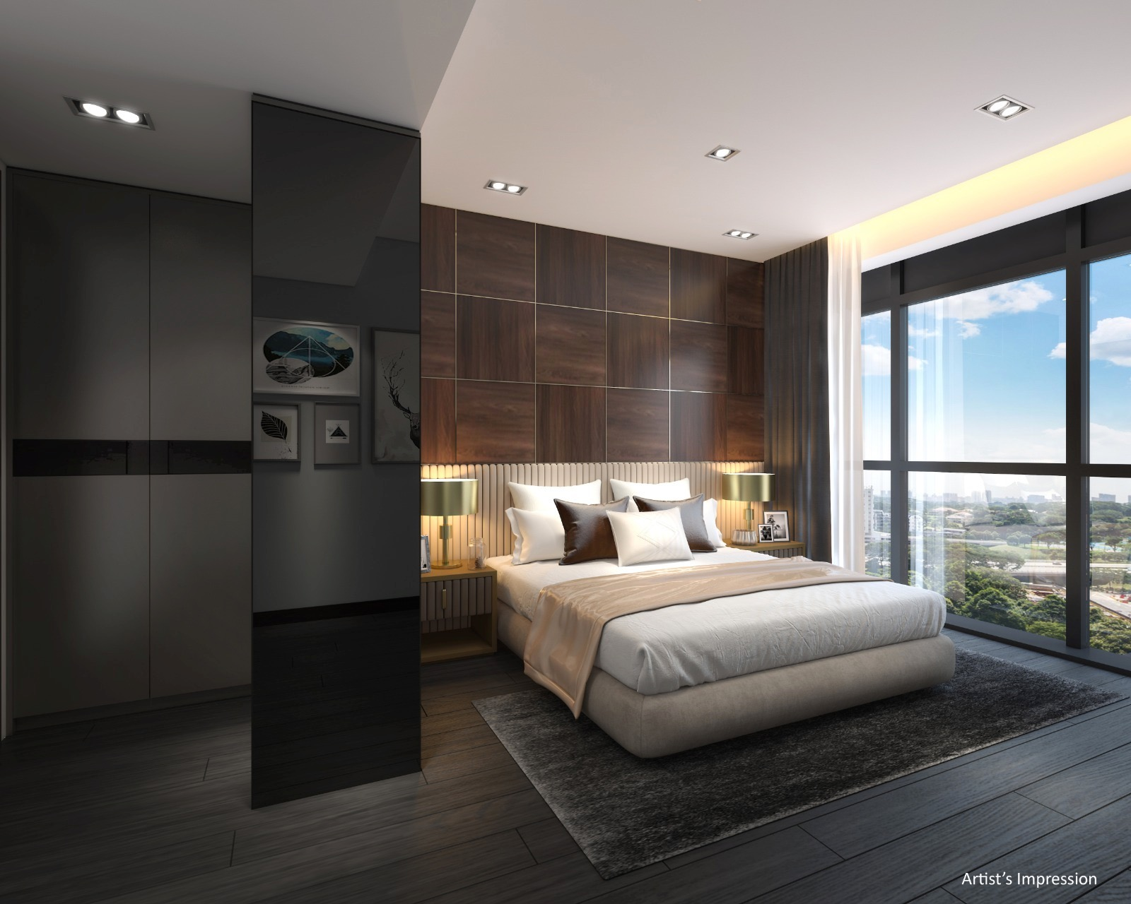 Linq Condo Showflat . Master Bedroom