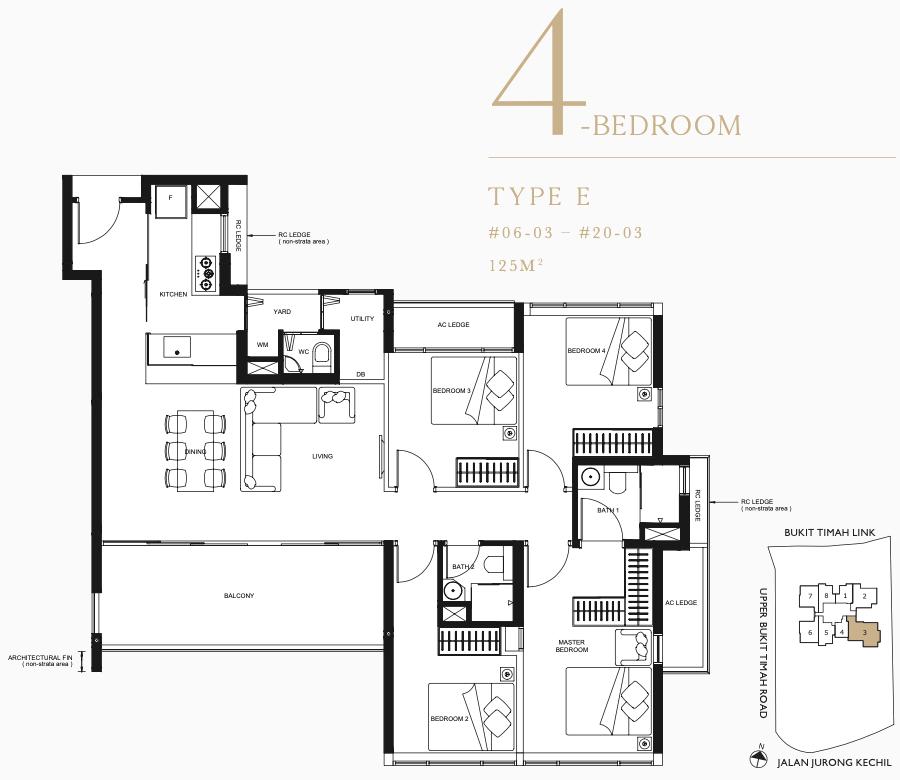 Linq Floor Plans . 4 Bedroom Type E