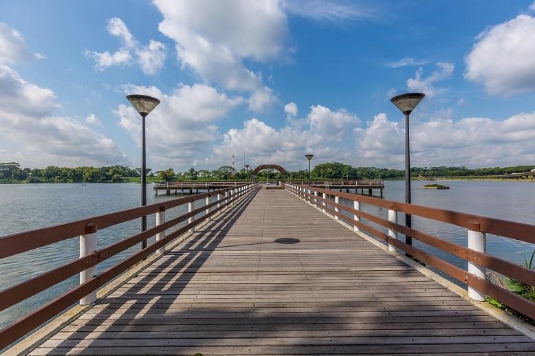 Lower Seletar Reservoir . Jetty by PUB