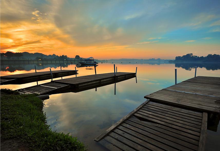 Lower Seletar Reservoir at Sunset