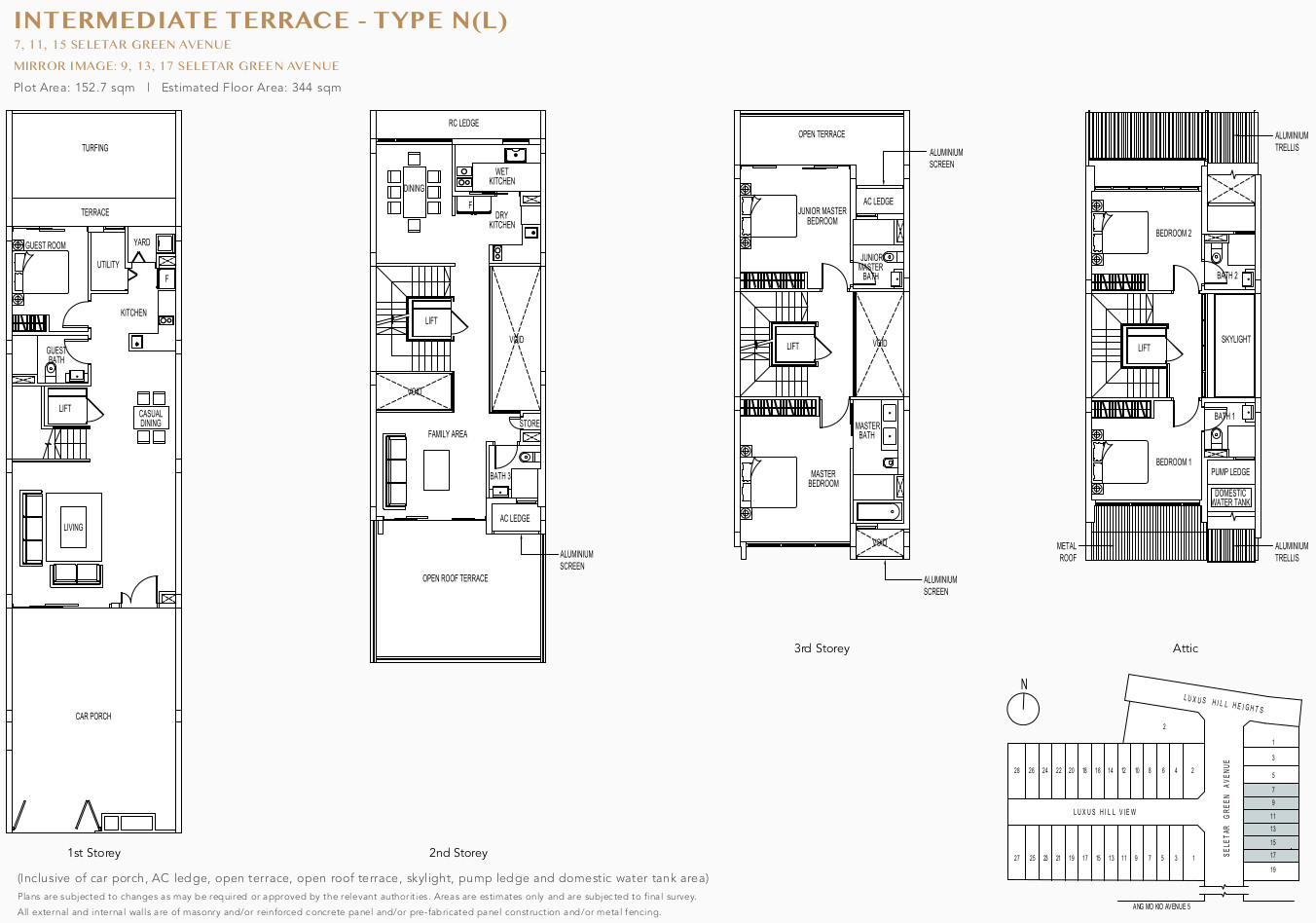 Luxus Hill Floor Plan . Intermediate Terrace Type N