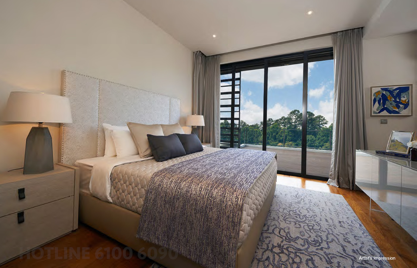 Artist's Impression . Luxus Hills Showflat Bedroom