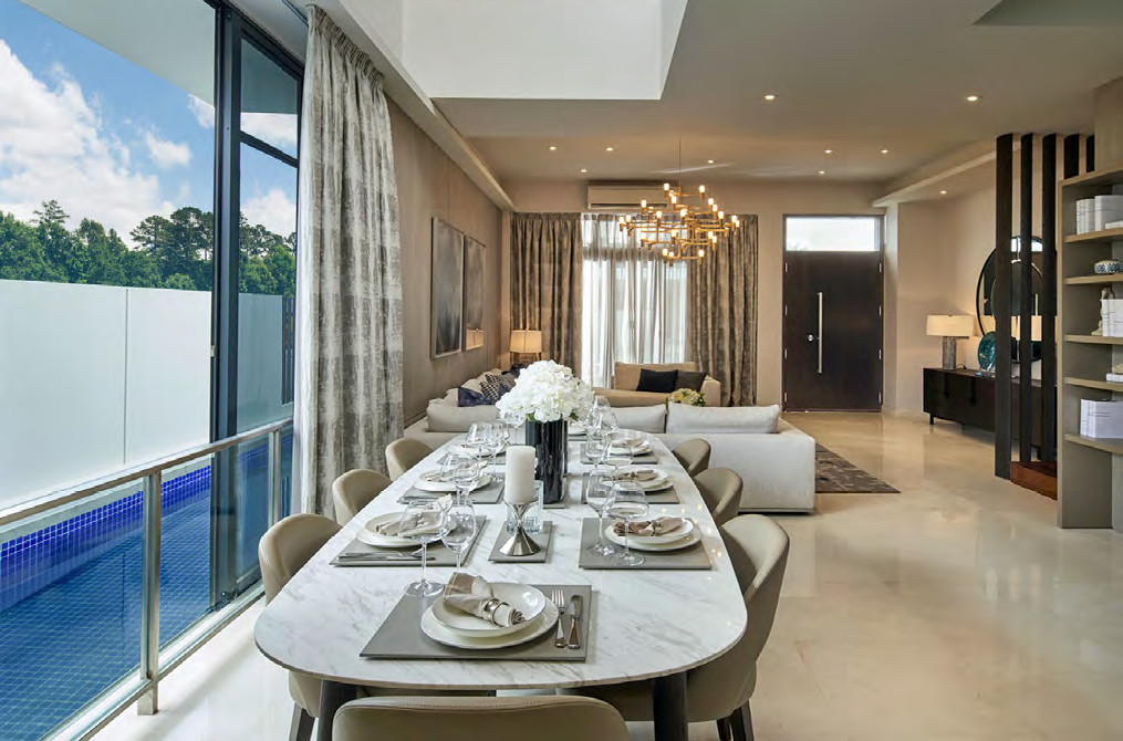 Luxus Hills Showflat . Living Dining