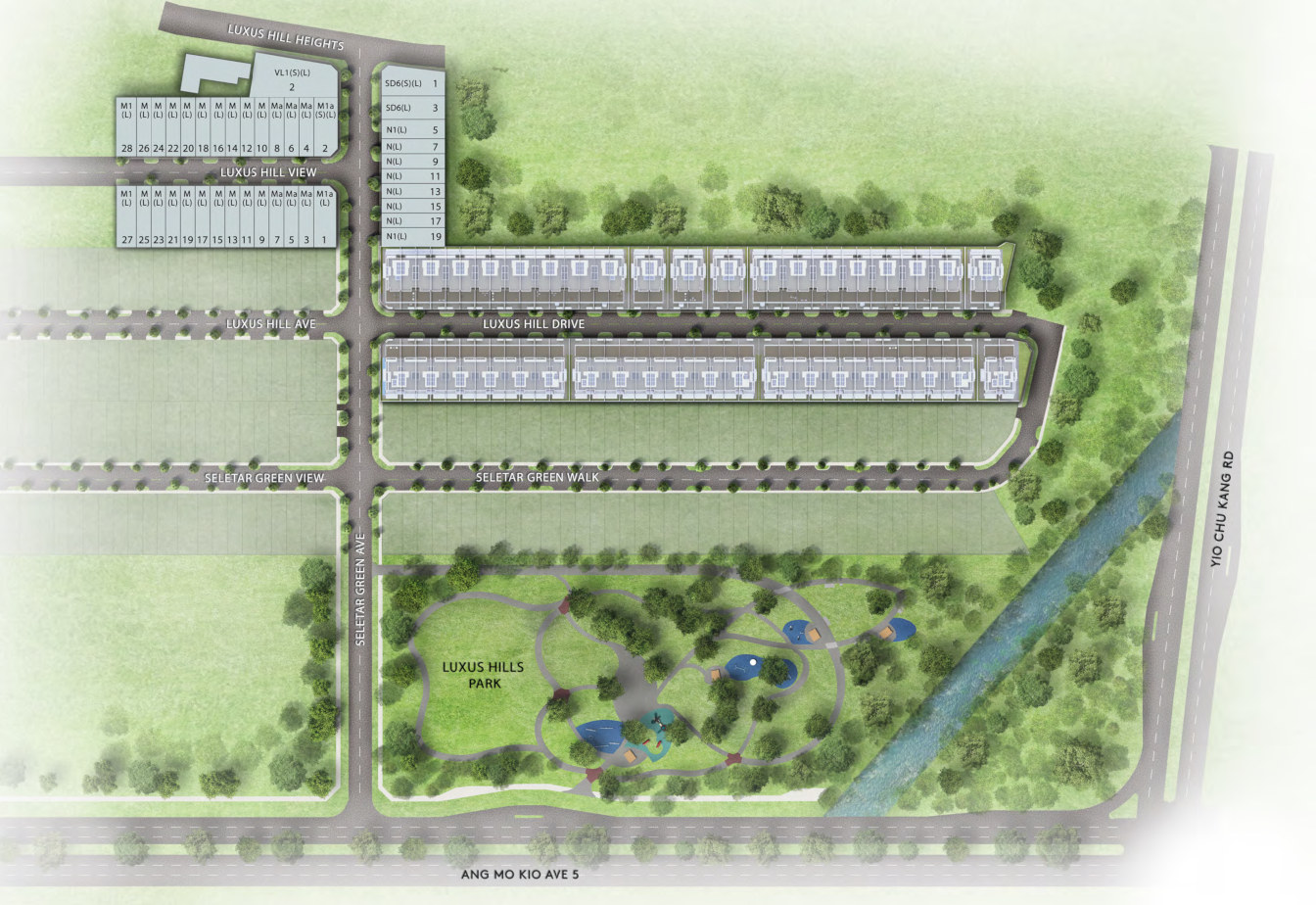 Luxus Hills Site Plan . Contemporary & Signature Collections