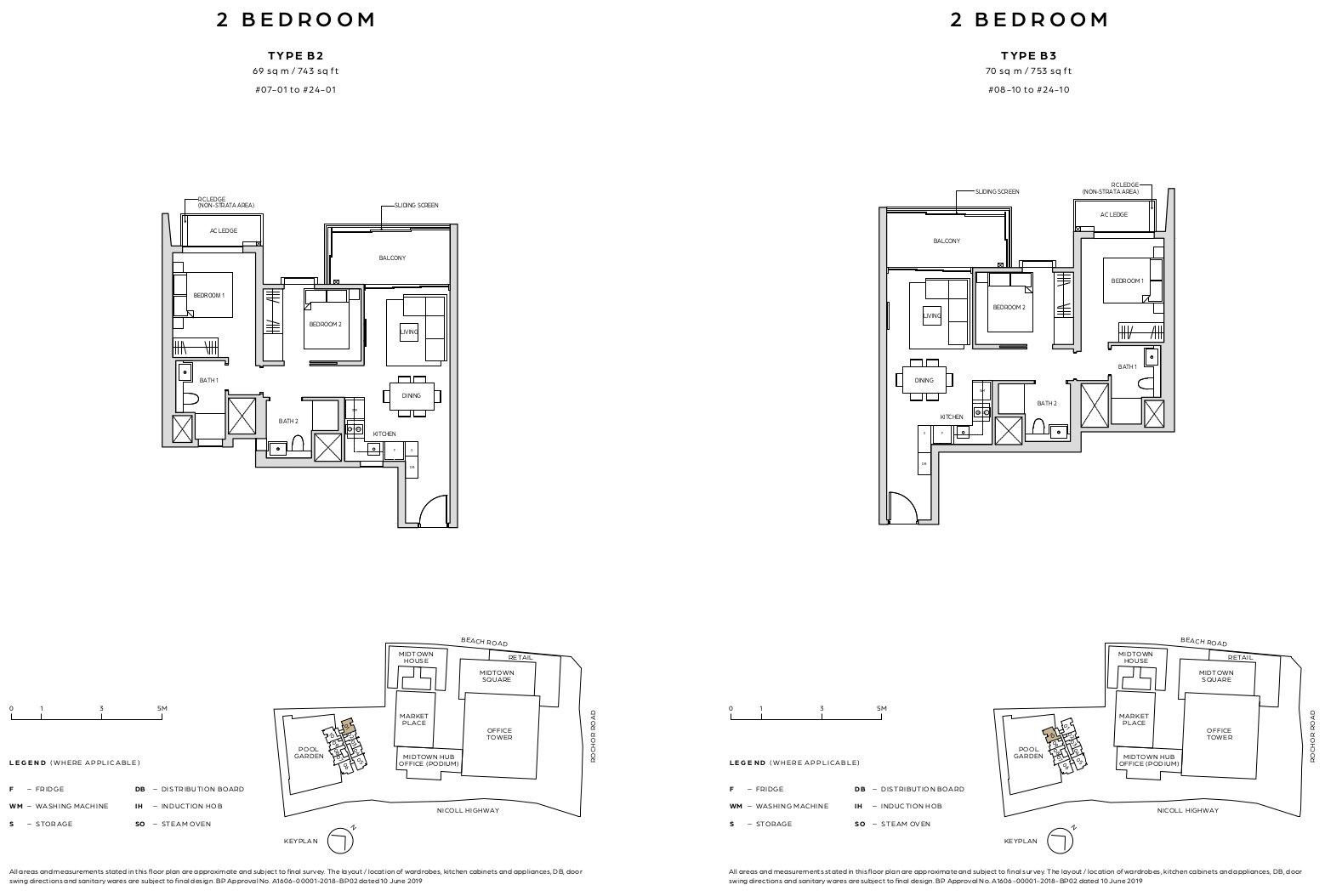 Midown Bay Floor Plan Layouts . 2 Bedroom Type B2