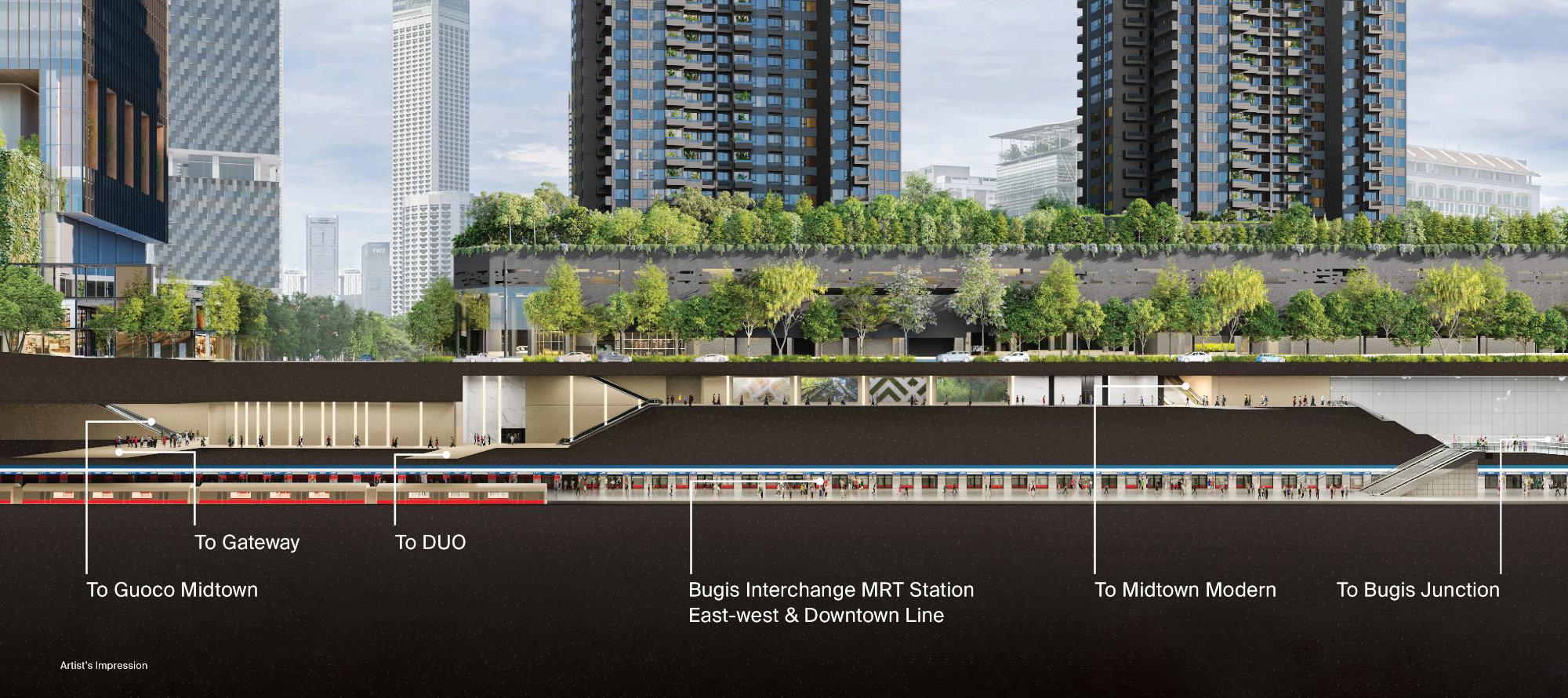 Midtown Modern Bugis MRT Connectivity