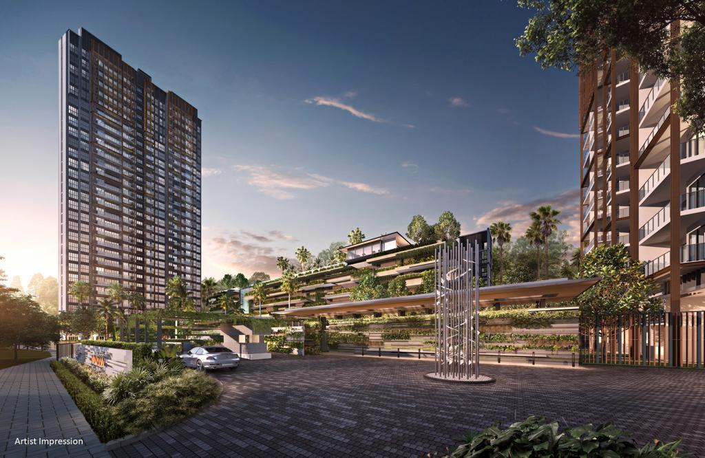 Hillview Midwood Singapore . 120 Metres Between the 2 Towers