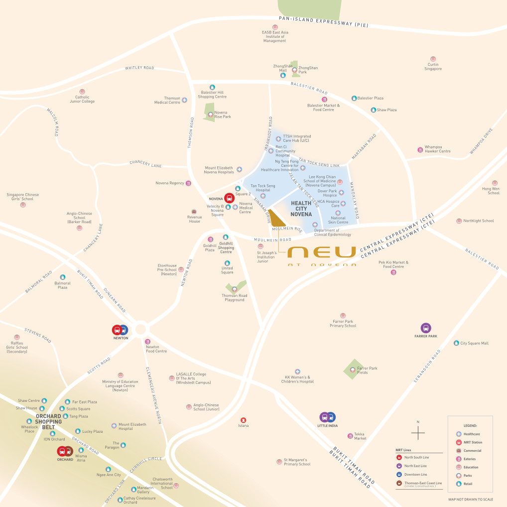 Neu at Novena Location Plan . Amenities & Neighbourhood