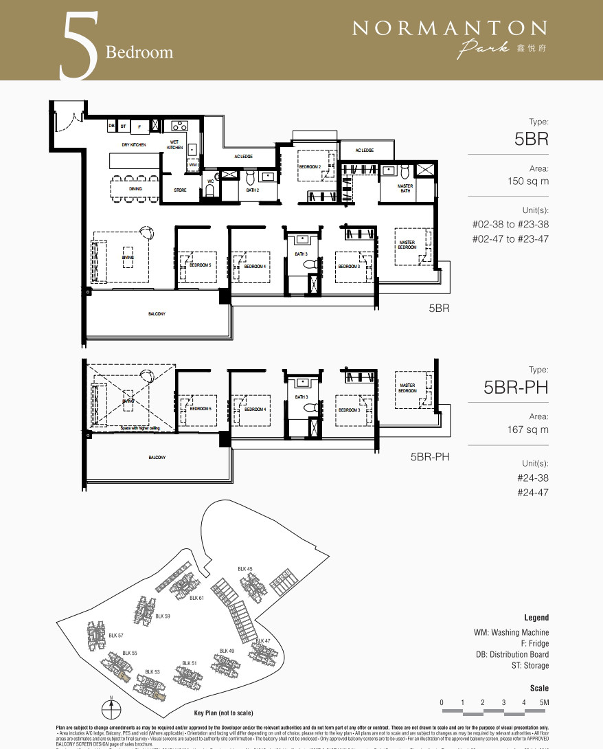 Normanton Park Condo Showflat . Floor Plan 5BR