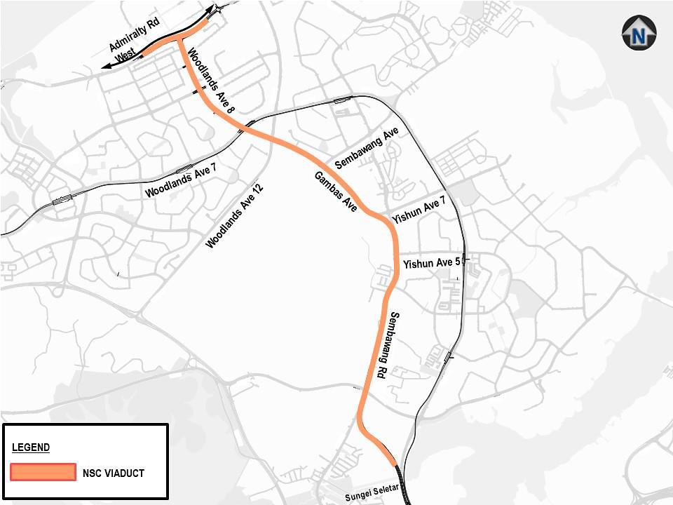 North-South Corridor Map . Near The Commodore Condo