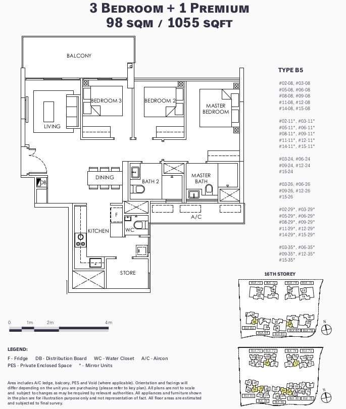 Ola EC Floor Plan . 3 Bedroom Premium Type B5