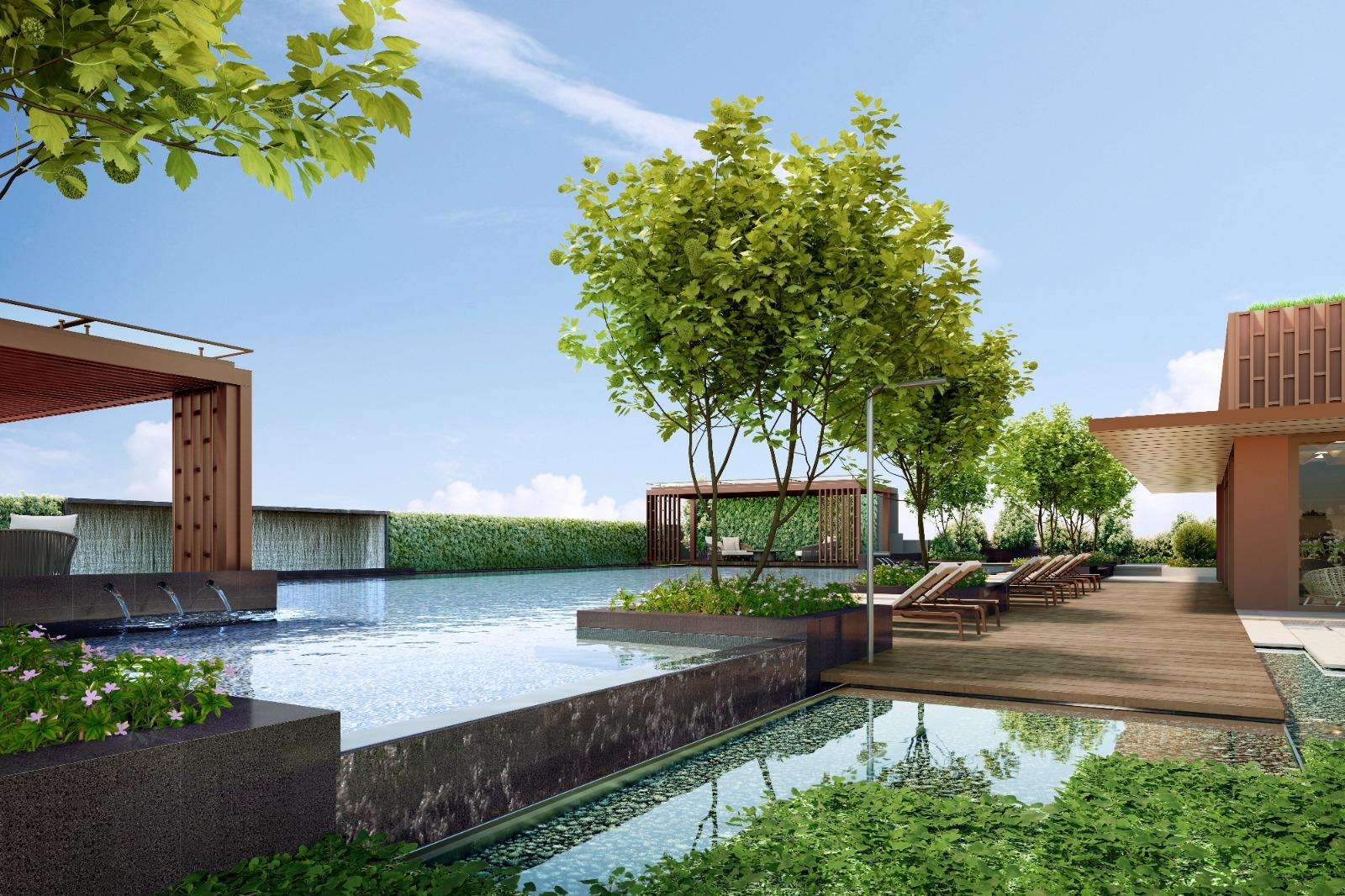 Artist's Impression . One Bernam Condominium . Pool