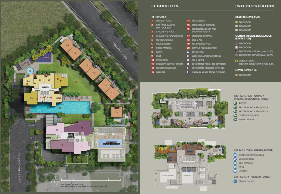 One Holland Village Residence . Site Layout Plans