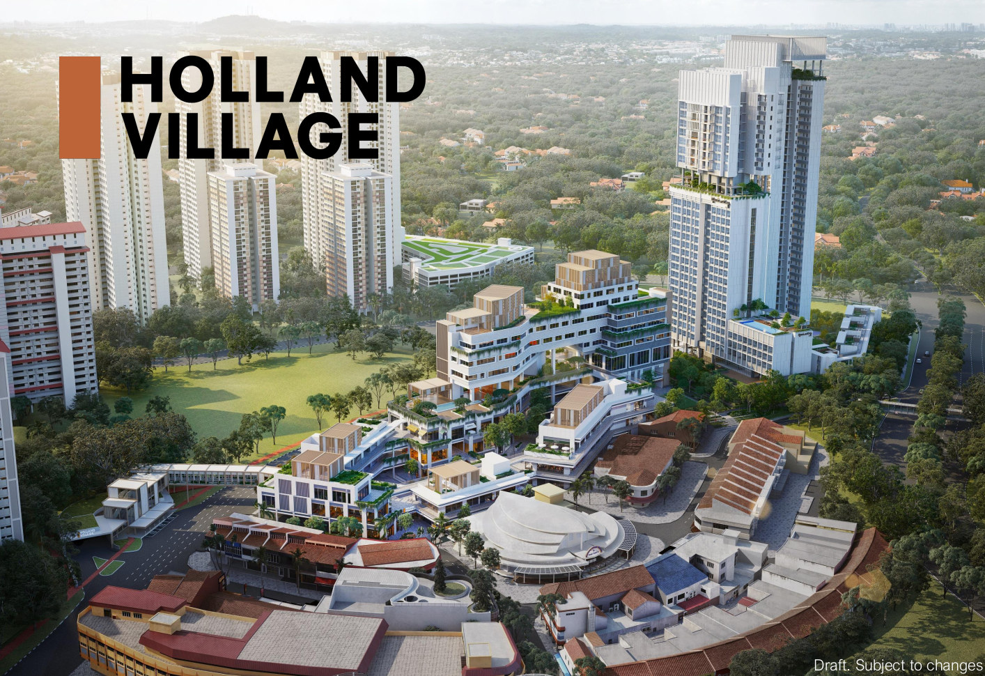 One Holland Village Residences . Aerial View
