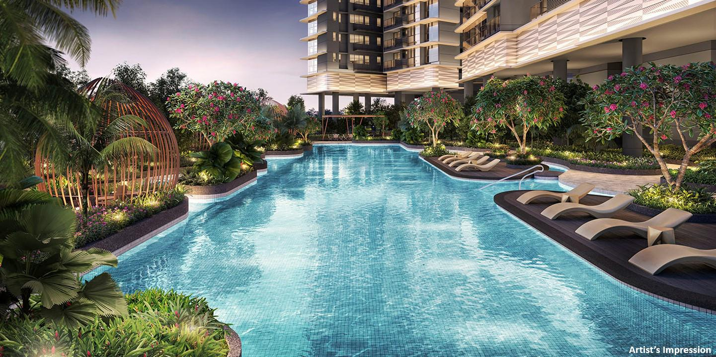 One-north Eden Condo . Lap Pool