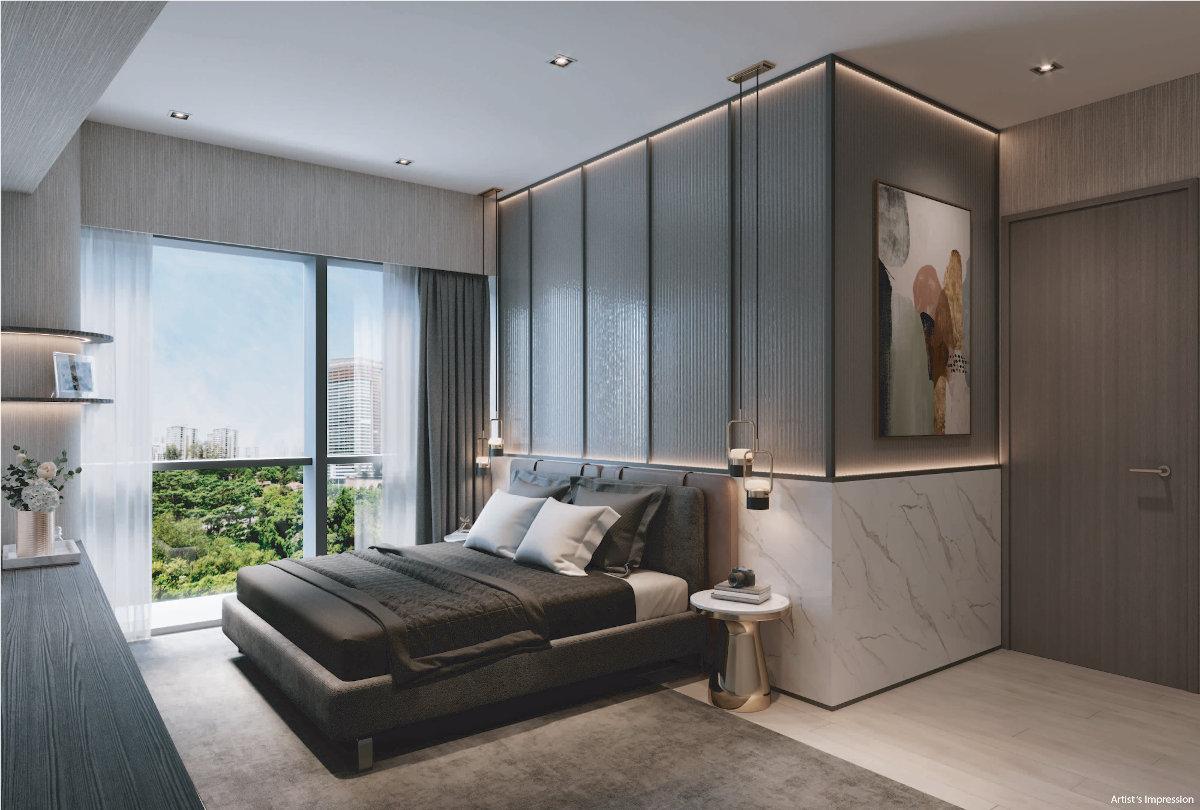 One north Eden Showflat . Master Bedroom