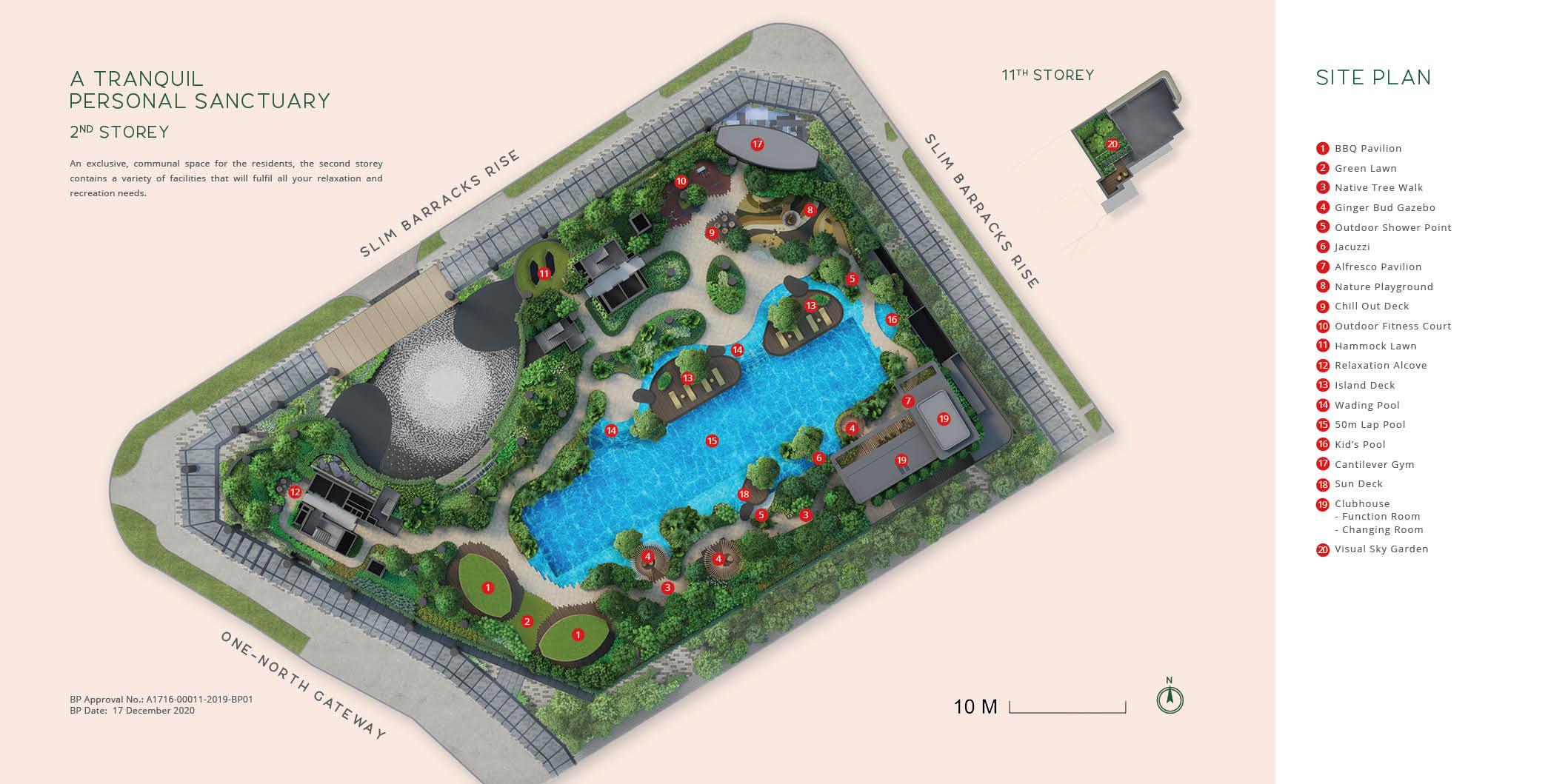 One north Eden Site Layout Plan . Level 2