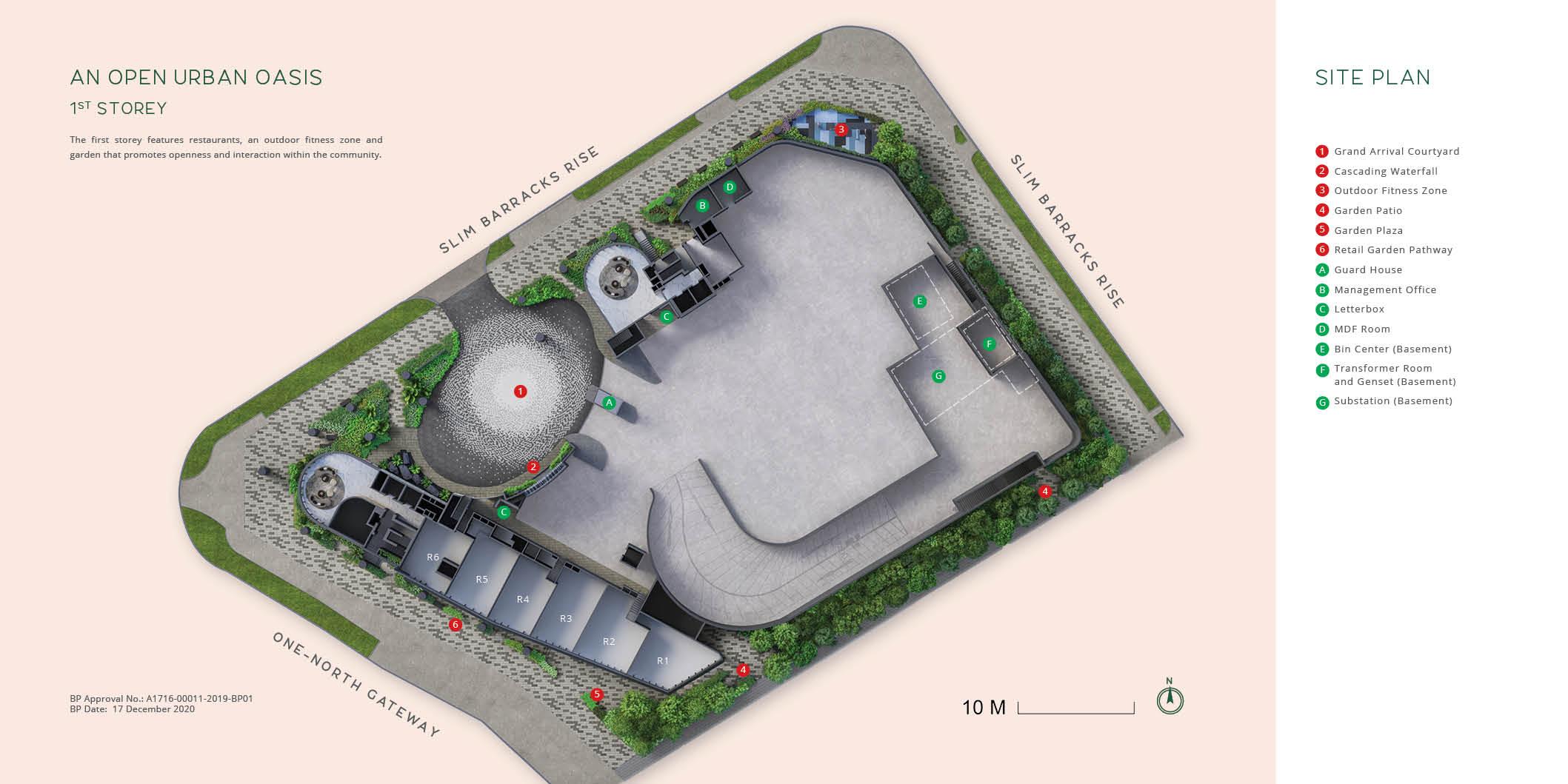 One-north Eden Site Plan . Level 1