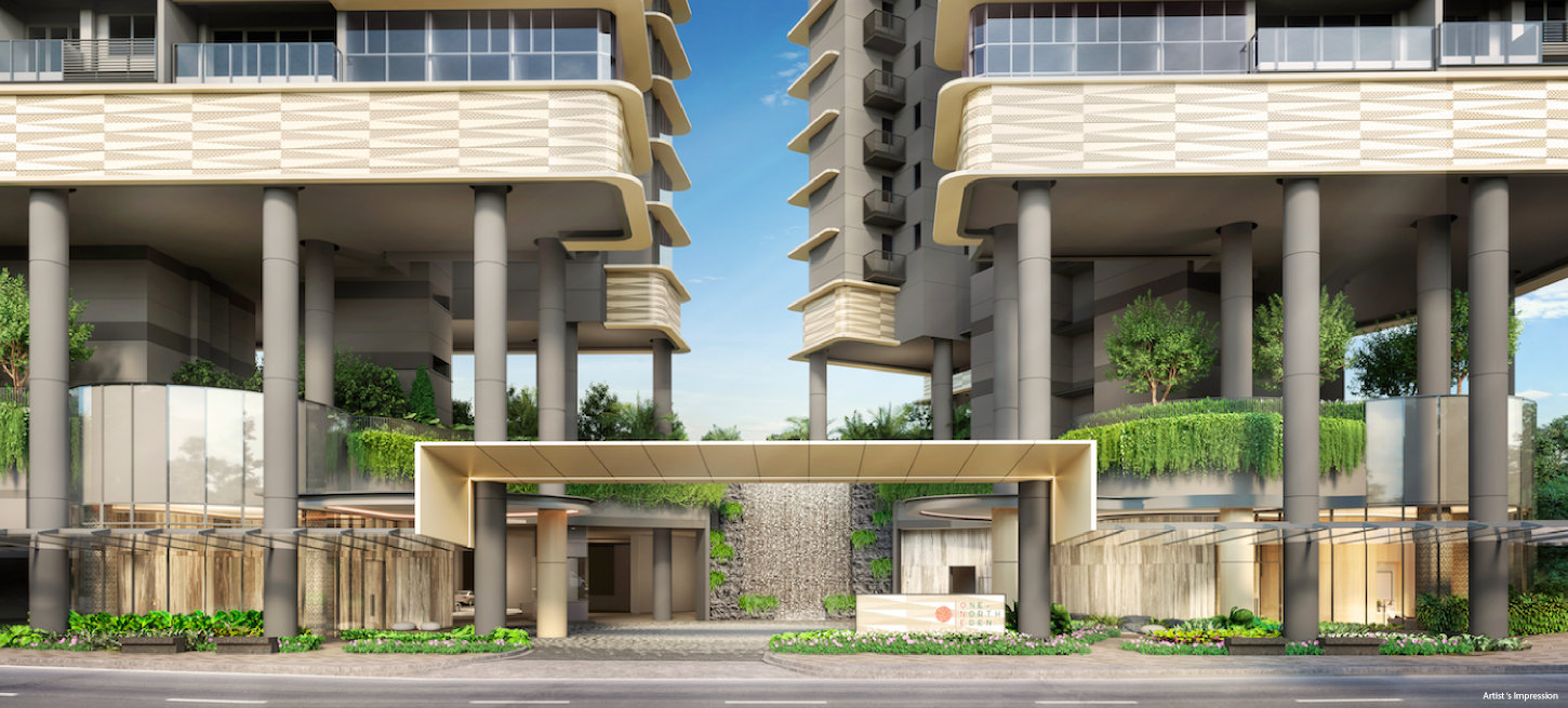 One north Eden Condo by TID Residential . Main Entrance