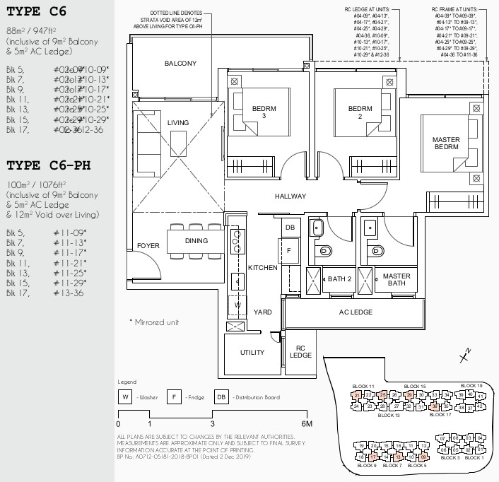 Parc Canberra EC Floor Plan . 3BR Utility Yard Type C6