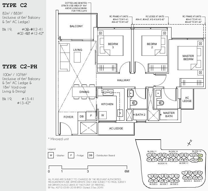 Parc Canberra Floor Plan . 3BR Type C2