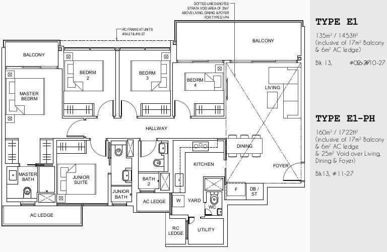 Parc Canberra Floor Plans . 5BR Type E1