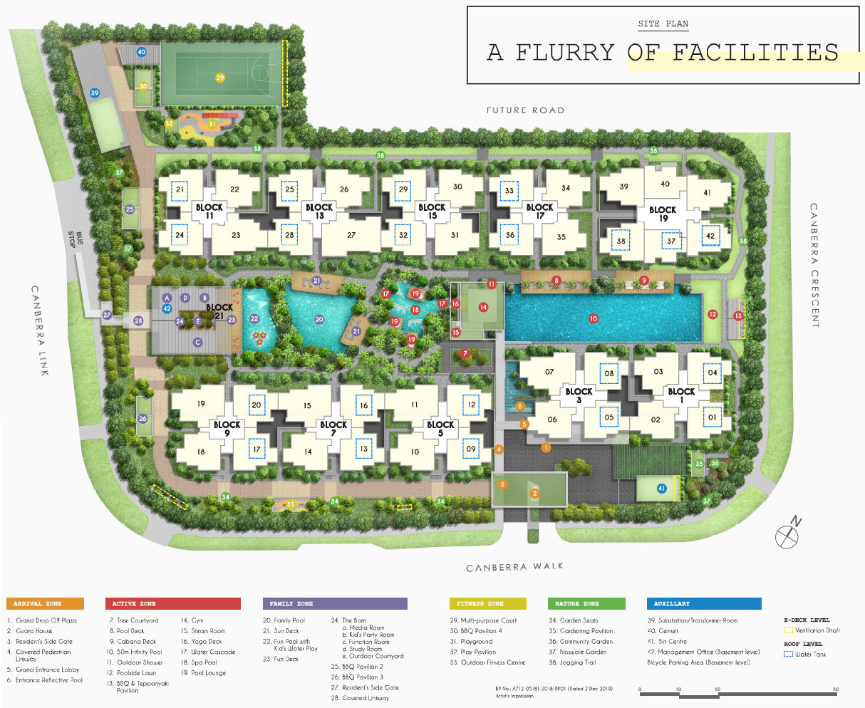 Parc Canberra Site Plan Layout with Legend