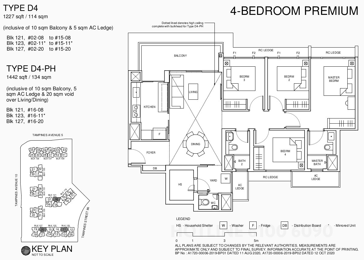 Parc Central EC Floor Plan . 4BR Premium Type D4