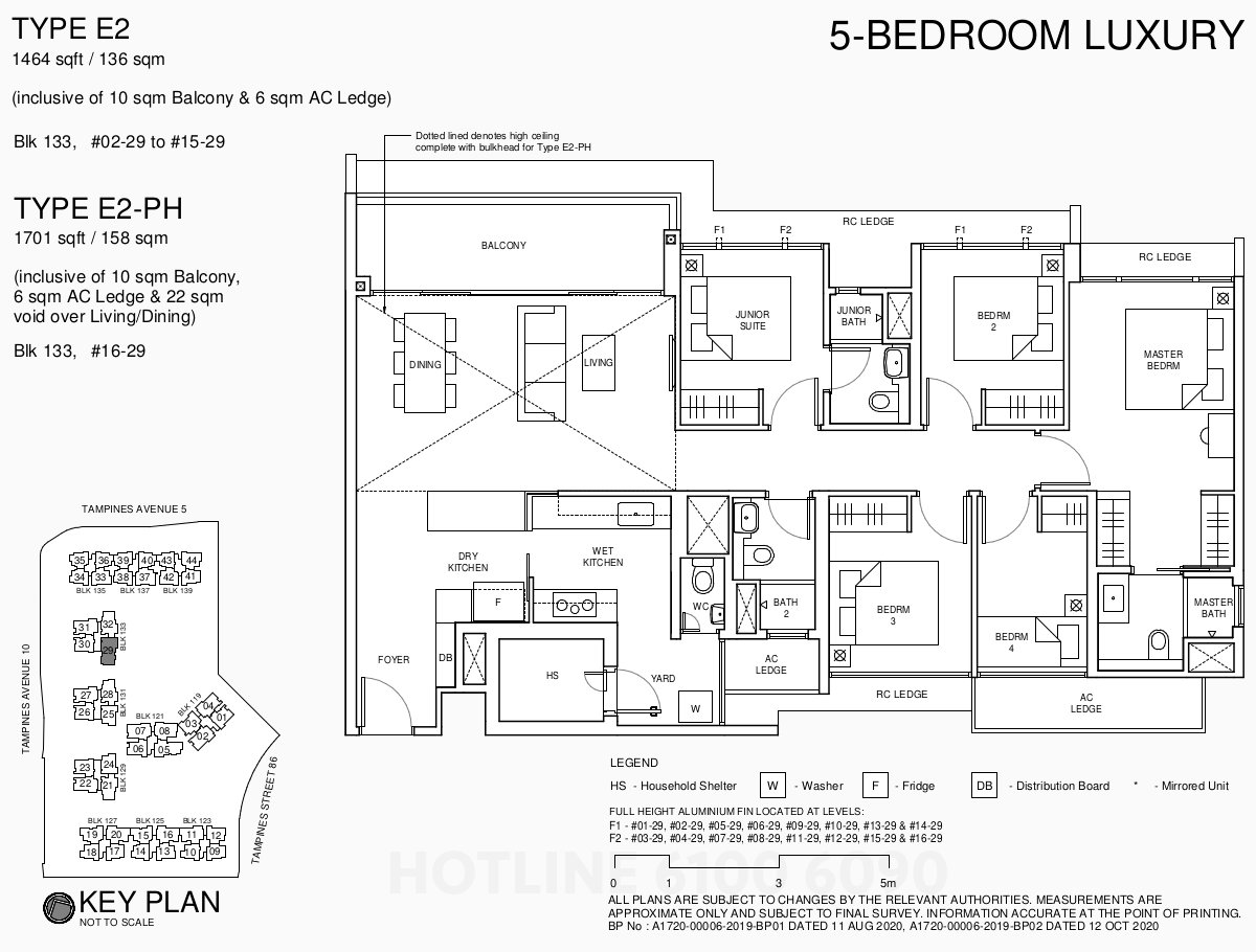 Parc Central Floor Plan . 5BR Luxury Type E2