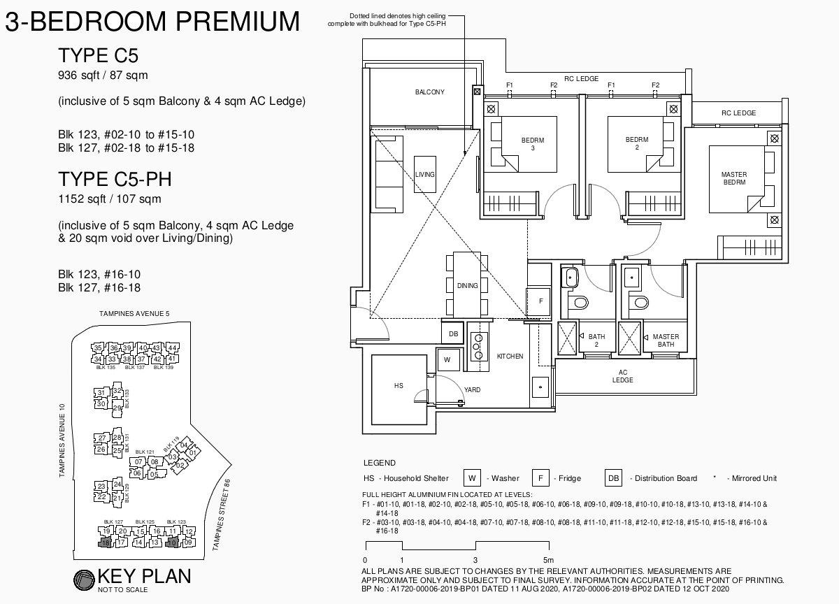 Parc Central Residence Floor Plans . 3BR Premium Type C5