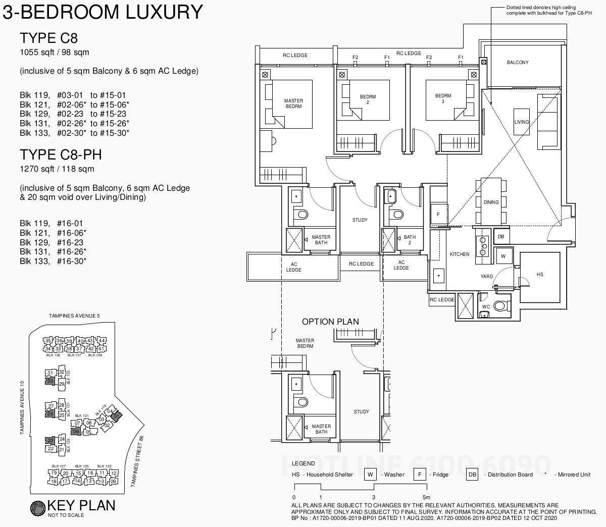 Parc Central Residences Floor Plan . 3BR Luxury Type C8