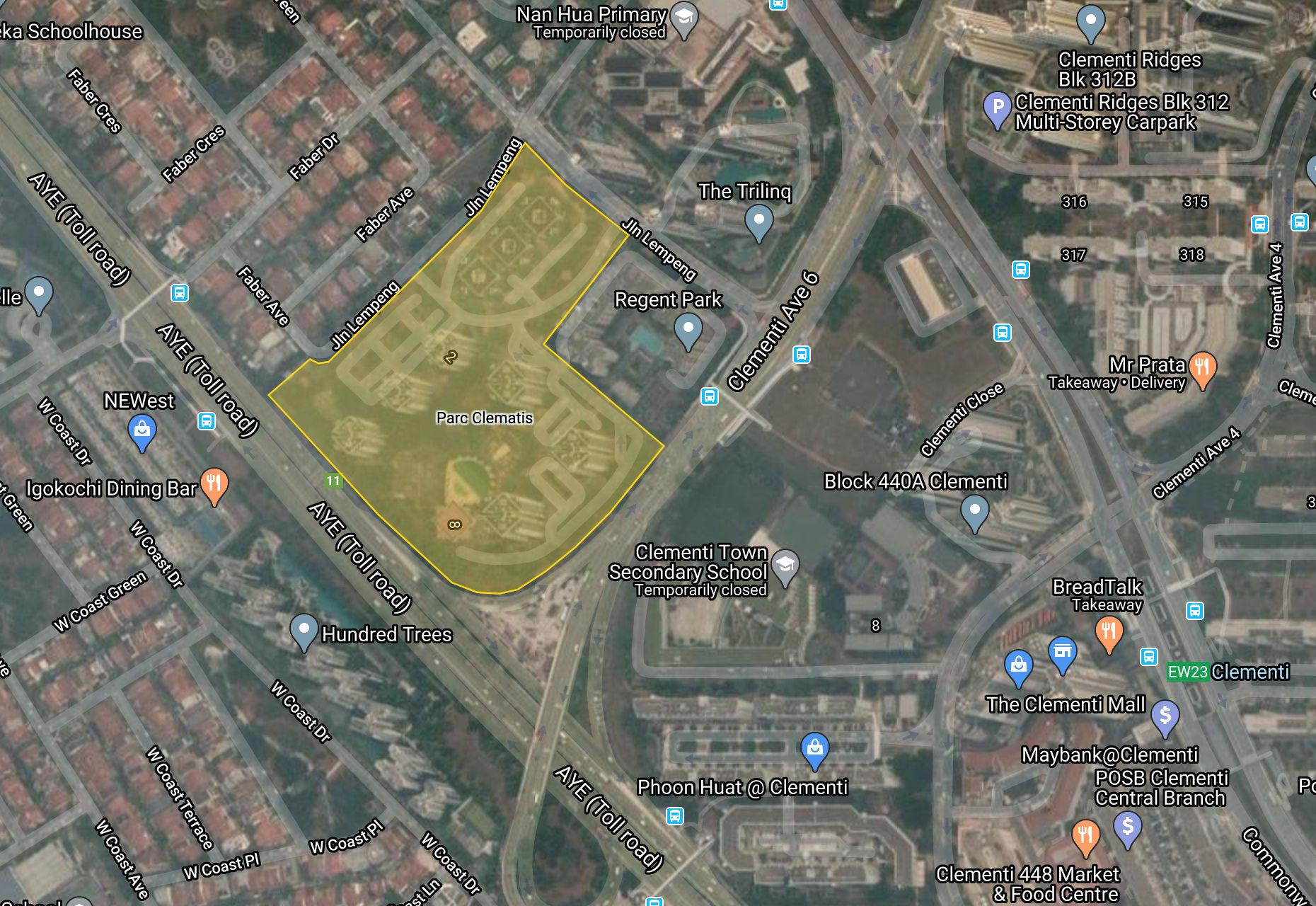 Parc Clematis Site Plan Context