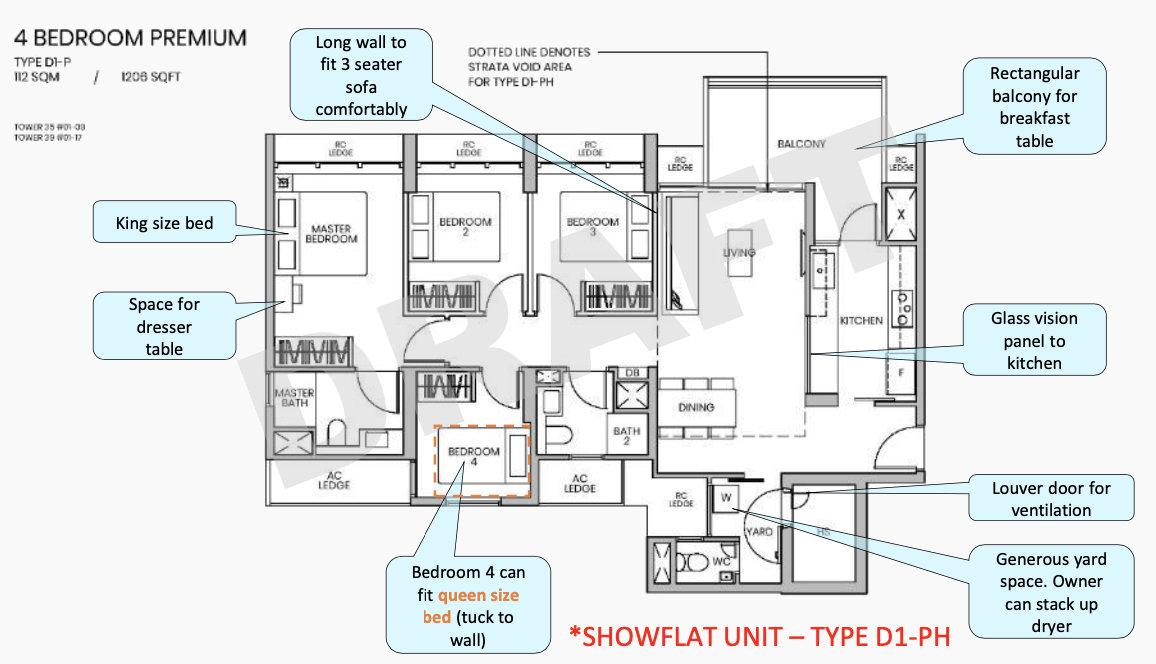Parc Greenwich EC Showflat . Draft 4 Bedroom Premium Type D1-PH
