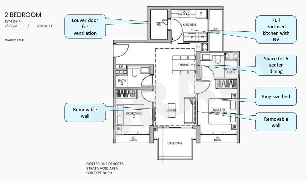 Parc Greenwich Floor Plan . Draft 2 Bedroom Type B1