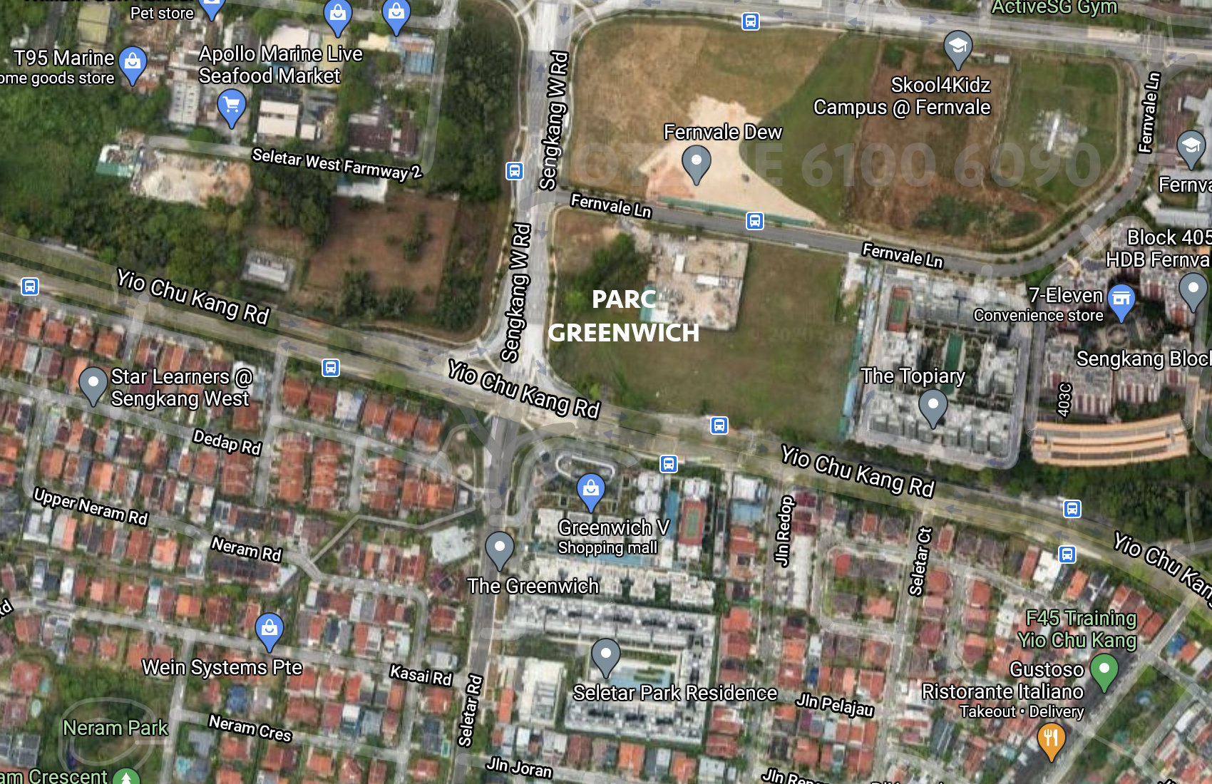 Parc Greenwich Location Plan . At Fernvale Lane