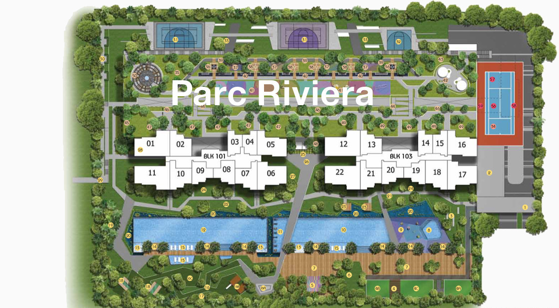 Parc Riviera Site Plan beside Twin VIEW Singapore